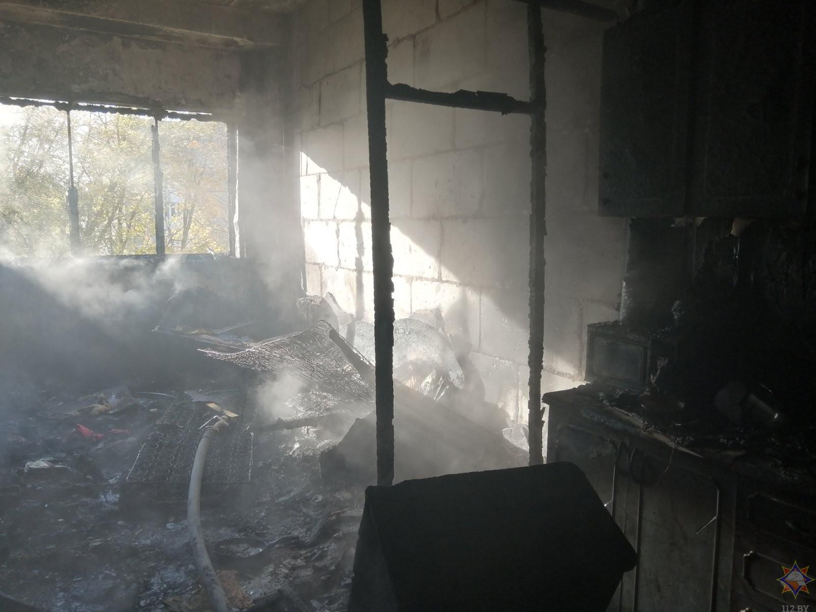 В Щучине при пожаре в общежитии были эвакуированы 35 жильцов